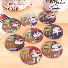 Bungo Stray Dogs anime brooches pins set(8pcs a se...