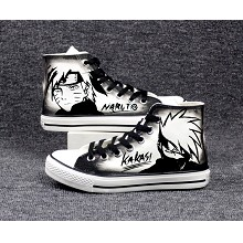 Naruto Uzumaki Naruto+Kakashi anime canvas shoes s...