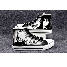 Naruto Kakashi+Sasuke anime canvas shoes student p...