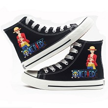 One Piece anime canvas shoes student plimsolls a p...