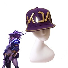League of Legends KDA cosplay cap hat