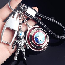 The Avengers Captain America key chains a set