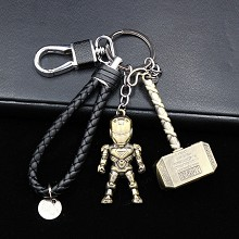 The Avengers Iron Man key chains a set