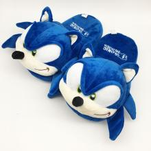 Sonic plush slippers(a pair)
