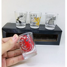 Game of Thrones movie wine glasses cups mugs set(4pcs a set)