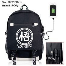 Dragon Ball anime USB charging laptop backpack sch...