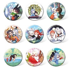 The other anime brooches pins set(9pcs a set)