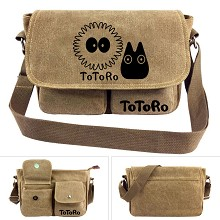 Totoro anime canvas satchel shoulder bag