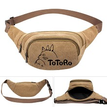 Totoro anime canvas pocket waist pack bag
