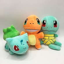 12inches Pokemon Charmander Squirtle Bulbasaur plush dolls set(3pcs a set)