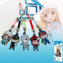 Hataraku Saibou Cells At Work anime phone straps s...