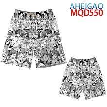 AHEGAO anime beach pants shorts middle pants