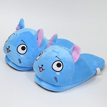 Fairy Tail happy anime plush shoes slippers a pair