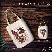 Fate grand order anime canvas tote bag shopping ba...