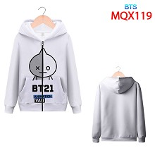 BTS star long sleeve hoodie cloth